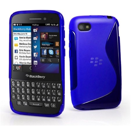 Grip S Line Wave Gel Case Soft Phone Cover for Blackberry Q5