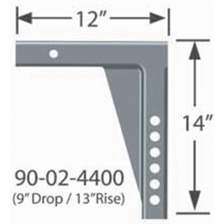 "Equal-I-zer Equalizer 90-02-4400 Weight Distribution Hitch Shank 13 Rise//9/"" drop"