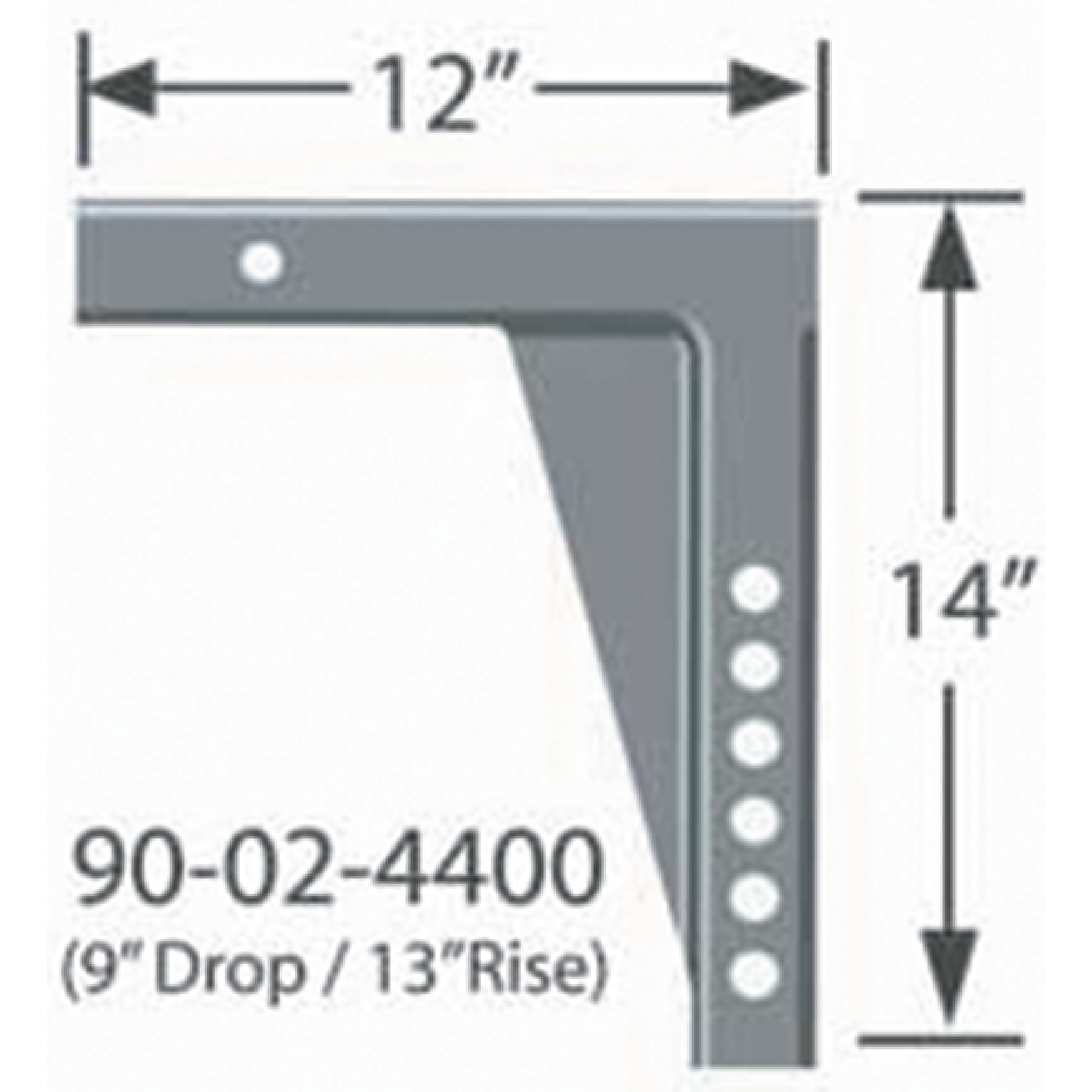 "Progress Mfg 90-02-4400 Equal-i-zer 2"" Adjustable RV Shank - 9"" Drop, 13"" Rise & 12"" Length (Xxl12)"