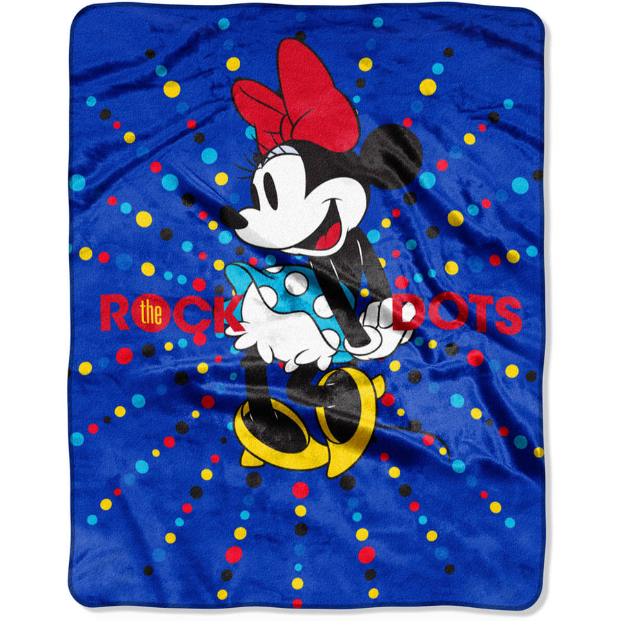 "Disney's Minnie Mouse ""Rock the Dot"" 40"" x 50"" Silk Touch Throw"