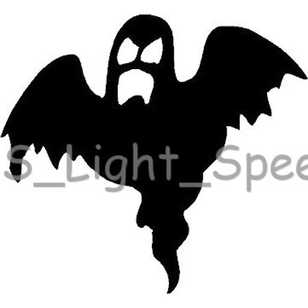 Cars 2 Hank Halloween ((2) Scary Ghost Spooky Halloween Vinyl Decal Car Window Stickers)