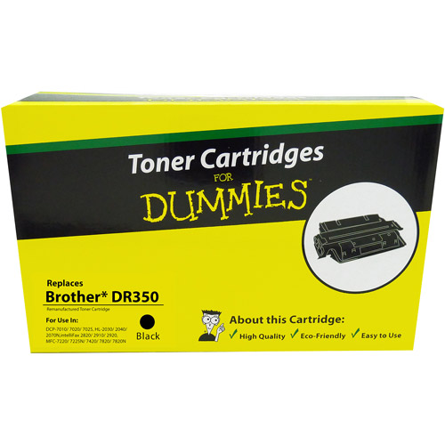 For Dummies Remanufactured Brother DR350 Black Drum Cartridge