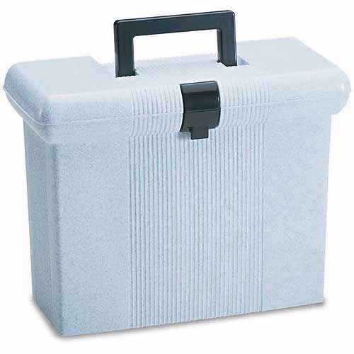 Esselte Pendaflex Portafile File Storage Box, Letter, Plastic Granite