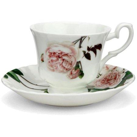 Roy Kirkham Teacup and Saucer (230 ml) Set of 2 - David Austin English