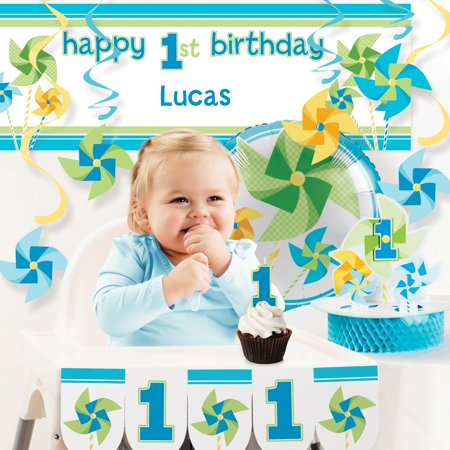 Turning One Boy 1st Birthday Party Decorations Kit - 1st Birthday Party Themes For Boys