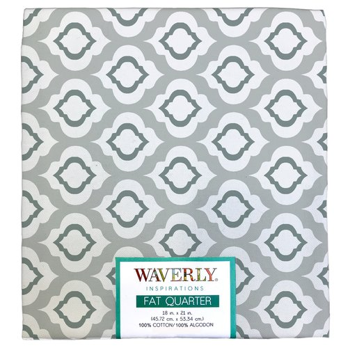 "Waverly Inspiration Fat Quarter 100% Cotton, Raindrop Print Fabric, Quilting Fabric, Craft fabric, 18"" by 21"", 140 GSM"