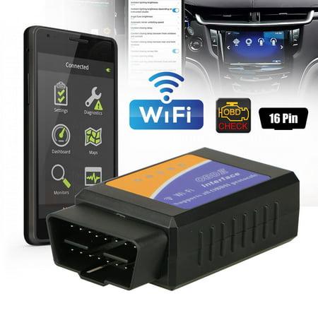 Mini ELM327 WiFi OBD2 OBDII Car Diagnostic Auto Scanner Code Reader Tool (Odb2 Scanner)