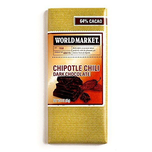 Chipotle Pepper Chocolate Bar 3 oz each (3 Items Per Order) by