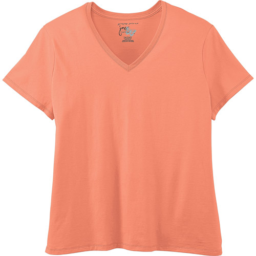 Just My Size by Hanes Women's Plus-Size Essential V-Neck Tee