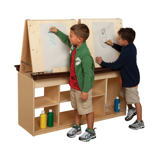 Wood Designs Natural Environment Double Sided Flipchart Easel