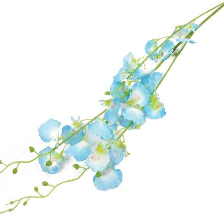 Balcony Garden Flowerpot Fabric Petal Emulational Artificial Flower Blue 2pcs - image 1 de 4