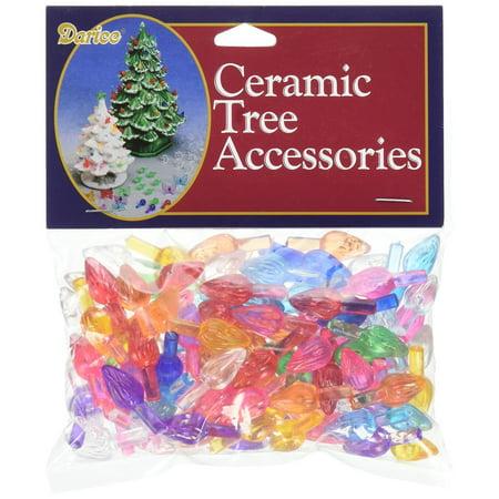 "Ceramic Christmas Tree Bulb .625"" 100/Pkg-Flame-Multi ..."