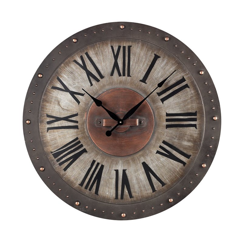 Sterling Industries 128-1005 Metal Roman Numeral Outdoor Wall Clock