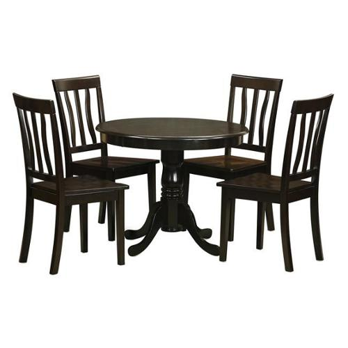 East West Furniture Cappuccino Kitchen Table and 4 Chairs