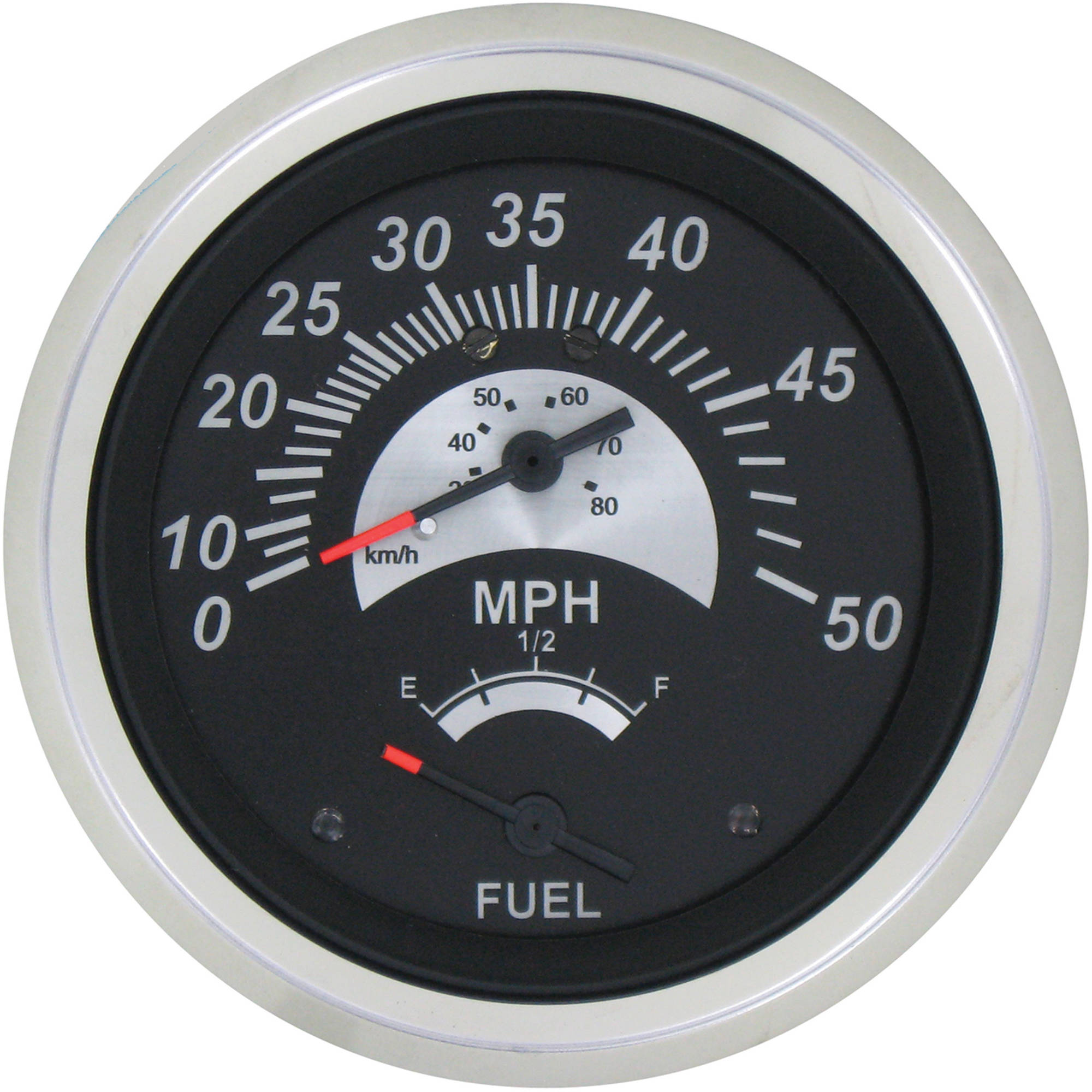 SeaStar Solutions Black Sterling Speedometer/Fuel Multi-Gauge