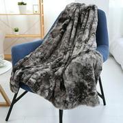 "Long Fur Throw Blanket Micro Plush Fleece Blanket Super Soft Cozy Luxury Bed Blanket Microfiber 51""x63"""