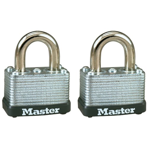 "Master Lock 22T 1-1 2"" No. 22 Warded Laminated Padlocks 2 Pack by Master Lock"