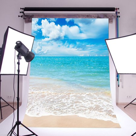 5x7ft Summer Sea Beach Background Photography Backdrop Screen For Photo Studio Props](Beach Photo Backdrop)