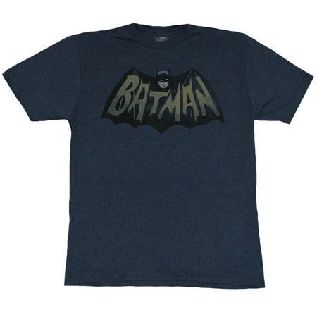 Batman (DC Comics) Mens T-Shirt - Classic Colored Sixties Logo Image (Small, - Sixties Clothing For Men
