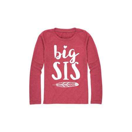 Big Sis - Youth Girl Long Sleeve Tee