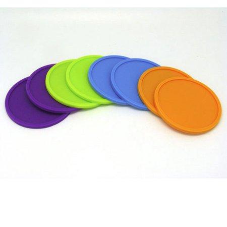 Silicone Coaster Set Multi-Color (Set of 8)
