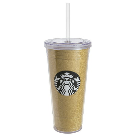 Starbucks 20 Ounce Gold Plastic To Go Tumbler