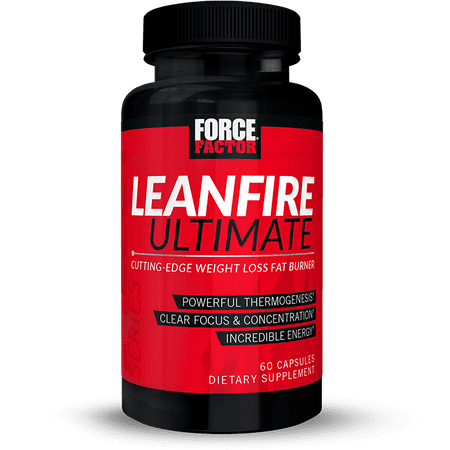 Force Factor LeanFire Ultimate Thermogenic Fat Burner for Weight Loss with Capsimax, Green Coffee Bean, Rhodiola, 60 Ct.