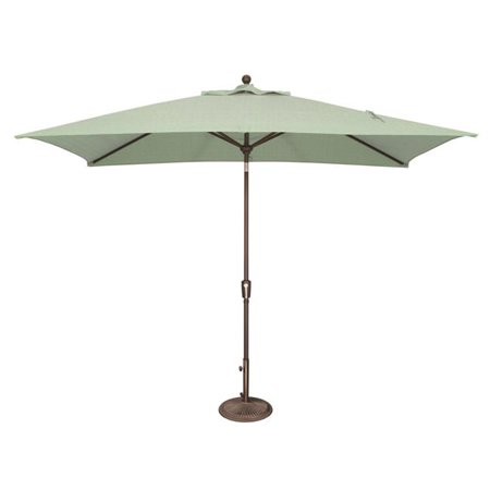 SimplyShade SSUM92-6X10RT00-A5413 Catalina 6 ft. x 10 ft. Rectangle Sunbrella Push Button Tilt Umbrella  Spa ()
