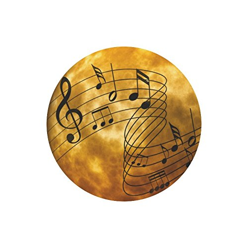 MKHERT Music Notes Round Mousepad Office Home Mat For Mouse Mice Size 7.87x7.87 inches