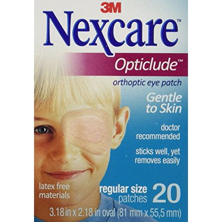 5 Pack - Nexcare Opticlude Elastic Bandages for Orthoptic Eye Patch, 20 Each - Plastic Eye Patch