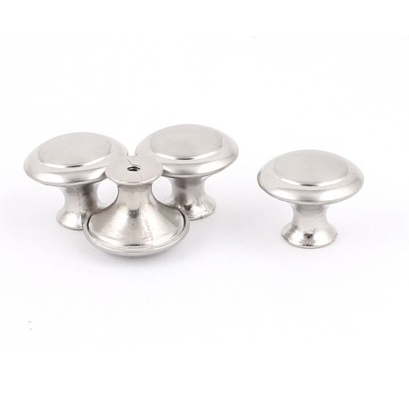 4Pcs Screw Mounted Drawer Cupboard Cabinet Round Pull Knobs Silver Tone w (Silver Tone Drawer Pulls)