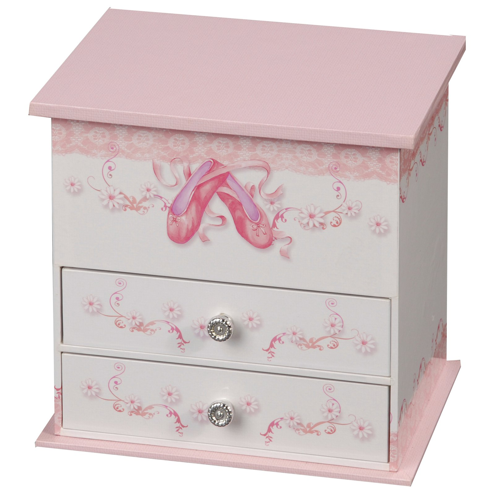 Mele & Co. Angel Musical Dancing Ballerina Jewelry Box - 7W x 6.3H in.