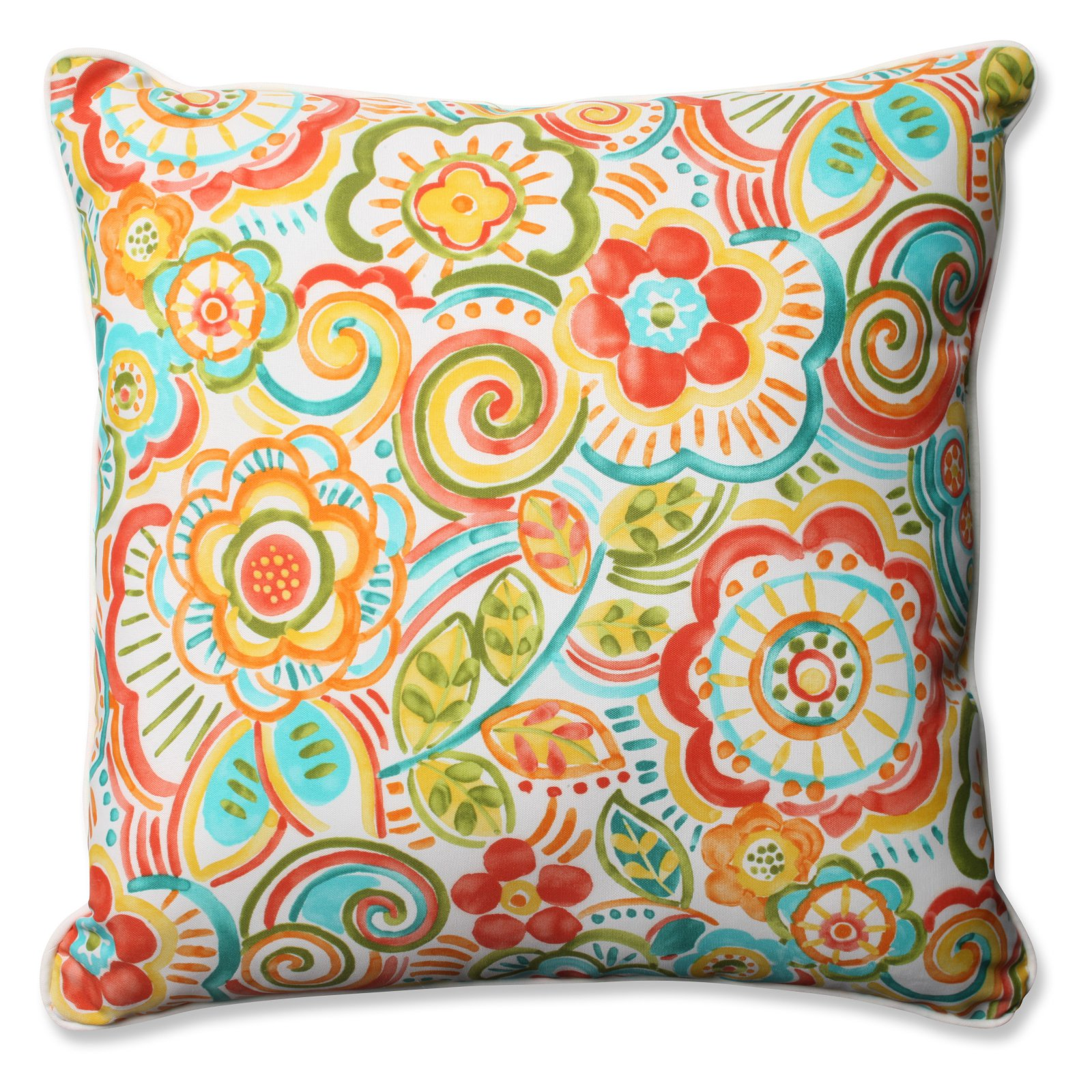 Pillow Perfect Outdoor/ Indoor Bronwood Carnival 25-inch Floor Pillow