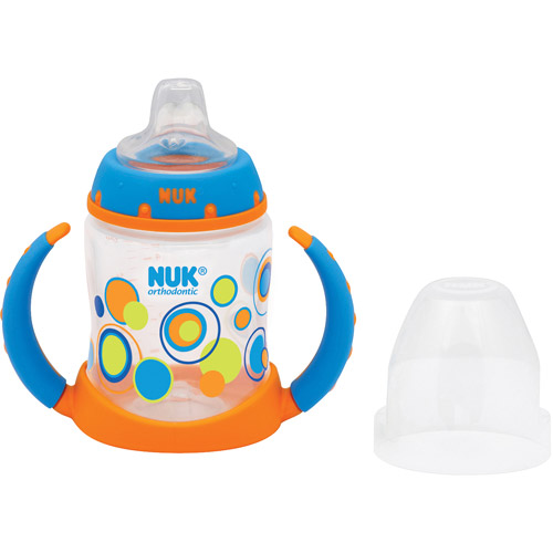 NUK TrendLine 5-oz Learner Cups, BPA-Free, 2pk, Boy Dots