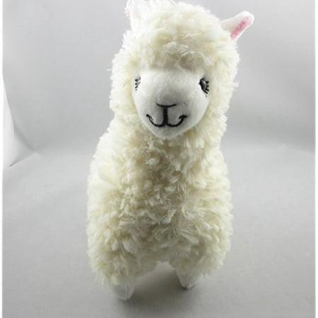9 Cute Alpaca Llama Plush Toy Creamy White Japan Animal Children