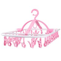 Laundry Hanger Drying Rack - Foldable Clip and Drip Hanger with 32 Clips, Clothes Drying Rack, Sock Hanger