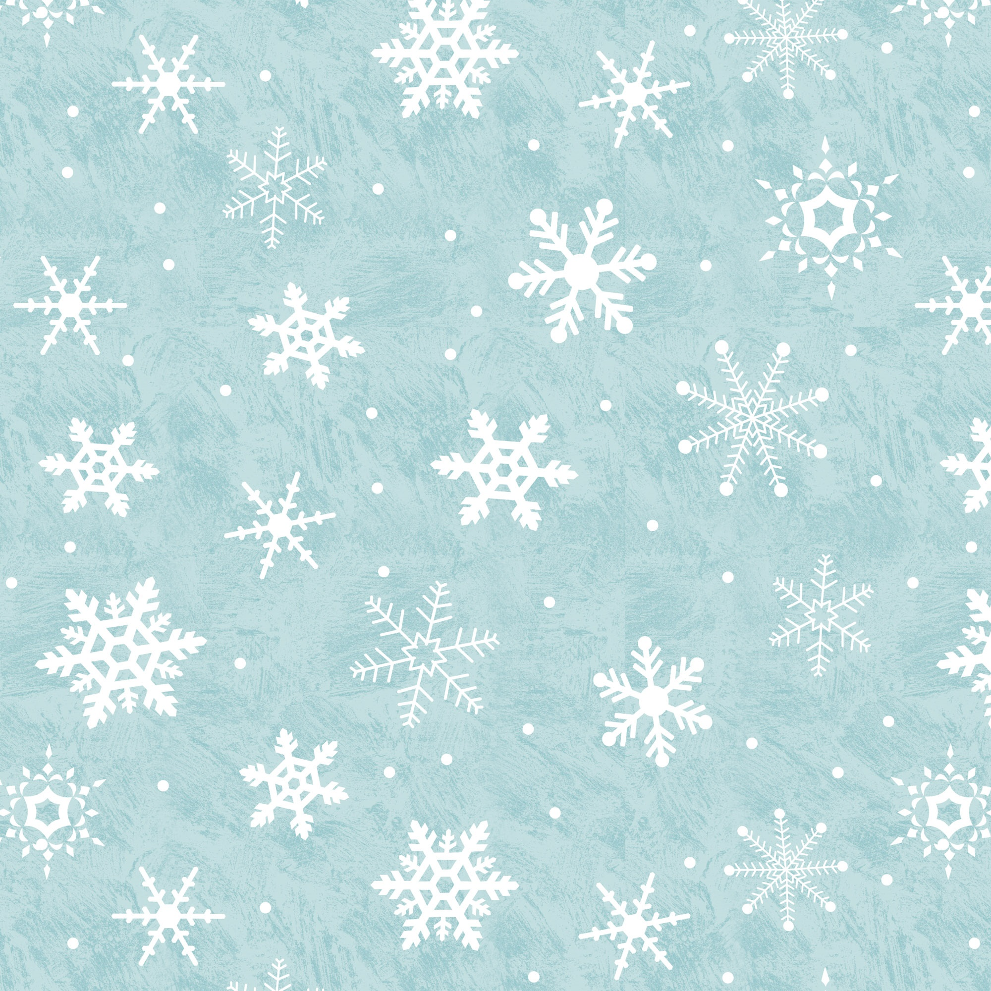 DAVID TEXTILES WINTER BIRDIES SNOWFLAKE 1 YD. CUT COTTON FABRIC