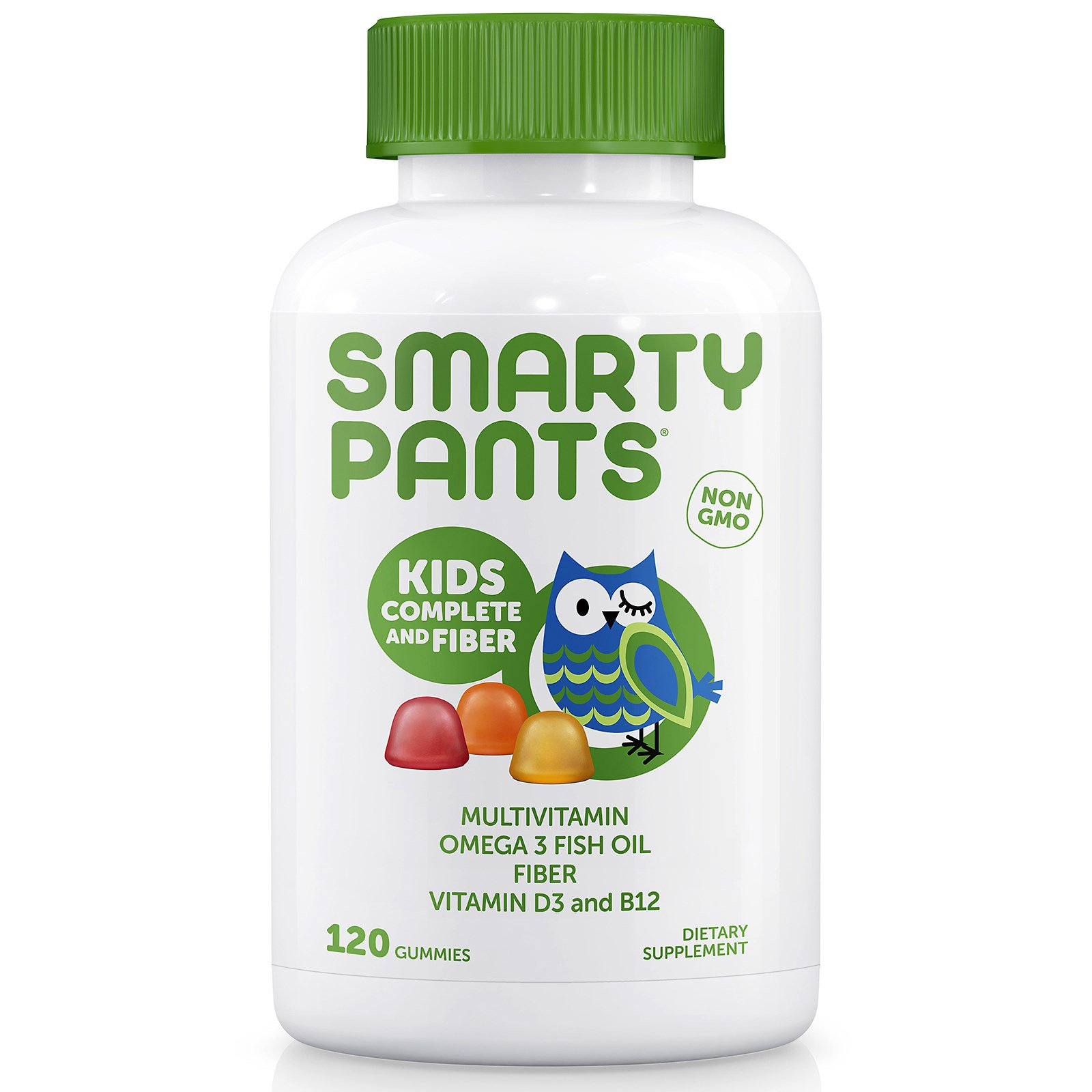 SmartyPants, Kids Complete and Fiber , 120 Gummies(pack of 4)