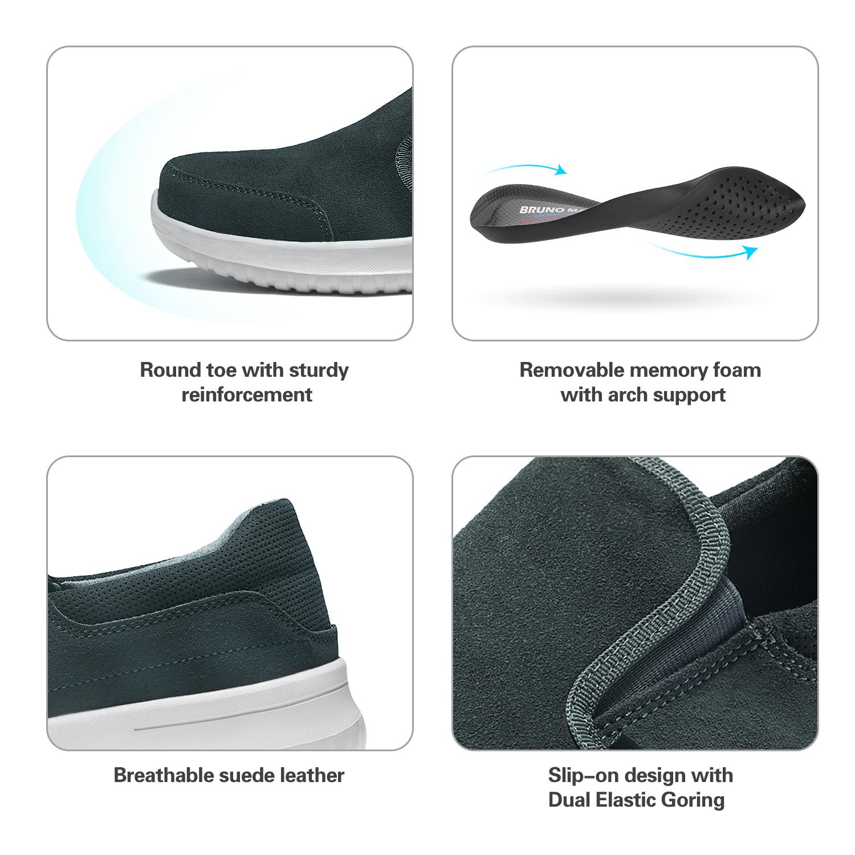 Bruno Marc Mens Slip On Sneakers Walking Shoes