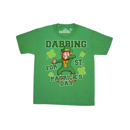 Dabbing for St. Patrick's Day Leprechaun Youth (St Patrick's Day Tee Shirts)