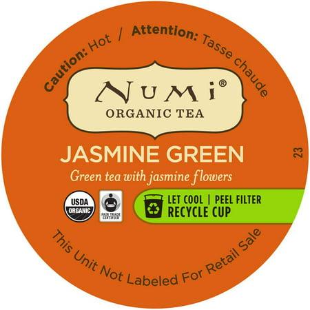 Numi Thé vert au jasmin Loose Leaf biologique unique Servir Coupes, 16 Ct