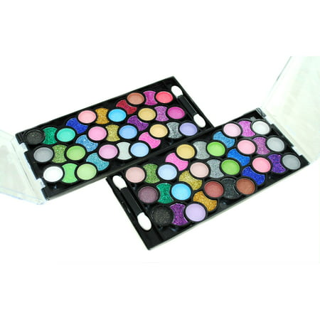 66 Color Neon & Glitter Eyeshadow Makeup Kit - Halloween Makeup With Glitter