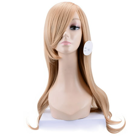 Beaute Galleria - 24 Inches Long Loose Curls Wavy Heat Resistant Synthetic Wig Party Cosplay Comic Con Halloween Costume Hair Piece with Wig Cap - Costume With Wig