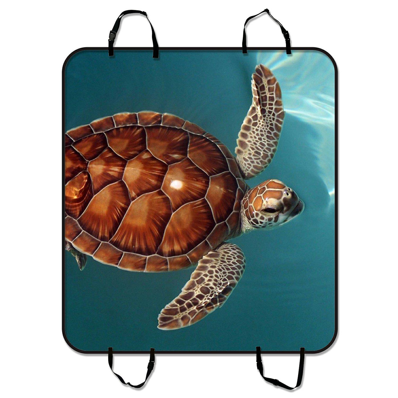 ZKGK Sea Turtle Dog Car Seat Cover Dog Car Seat Cushion W...