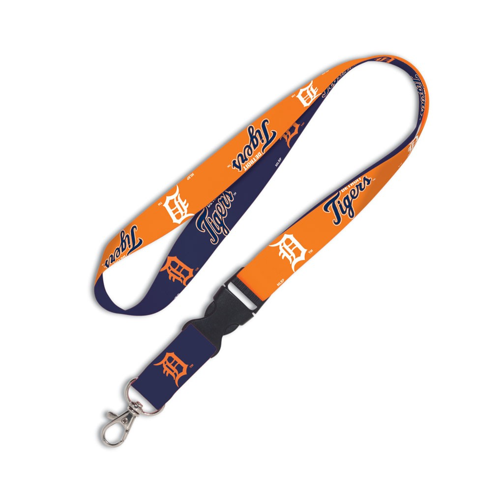 Detroit Tigers Official MLB 20 inch  Lanyard Key Chain Keychain by Wincraft