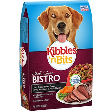 Kibbles 'n Bits Dog Food Oven Roasted Beef Flavor Spring Vegetable & Apple Flavors, 16.0 LB