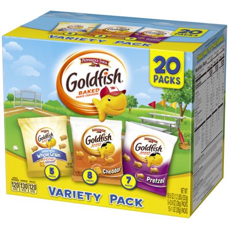 Savory Snacks For Halloween (Pepperidge Farm Goldfish Sweet & Savory Crackers, 19.5 oz. Variety Pack Box, 20-count Snack)