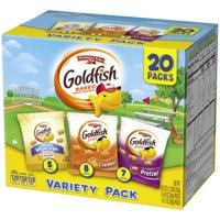 Pepperidge Farm Goldfish Crackers, Sweet & Savory Variety Pack, 19.5 oz, 20 Count