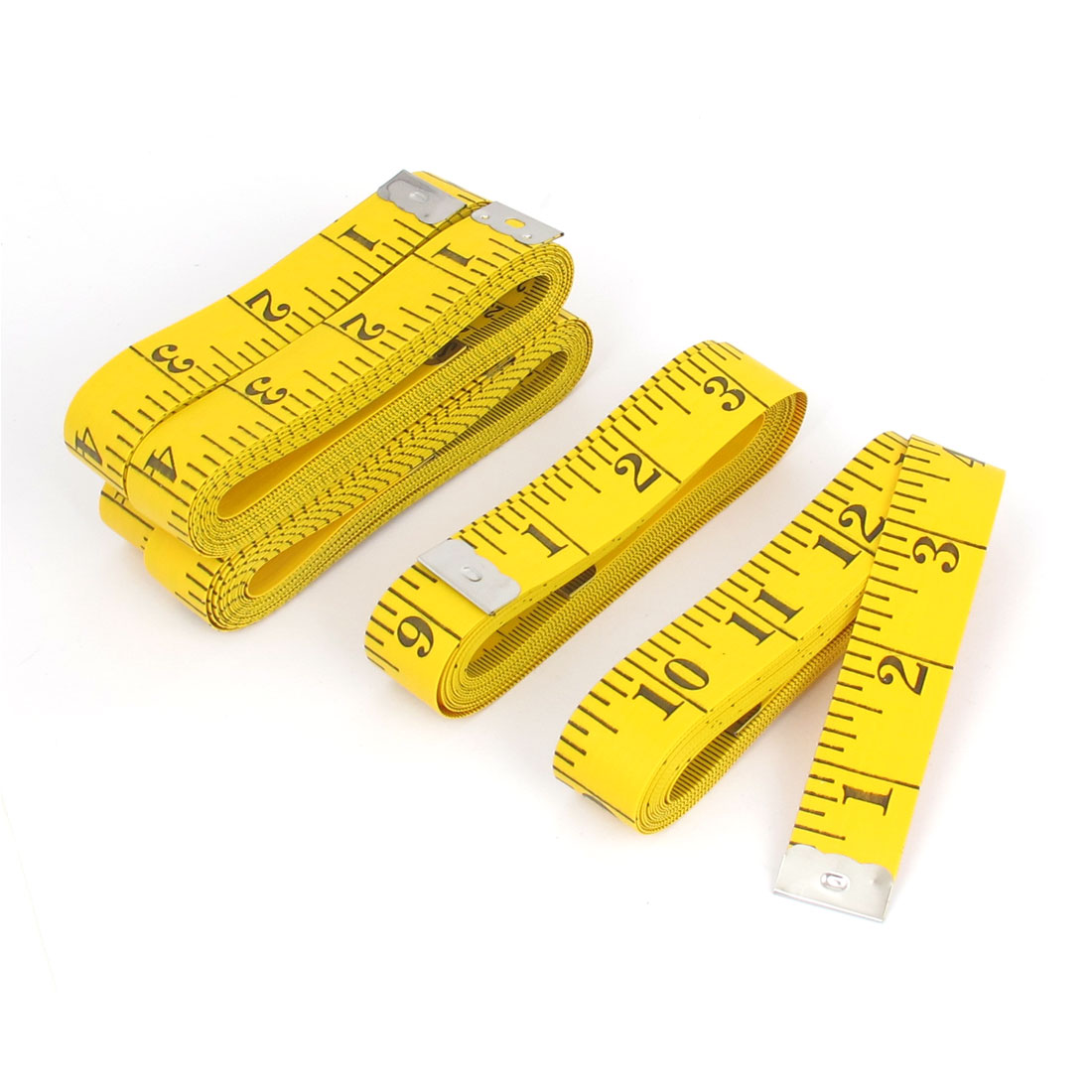 """5pcs 300cm 120"""" Yellow Sewing Cloth Dieting Tailor Craft Ruler Tape Measure"""