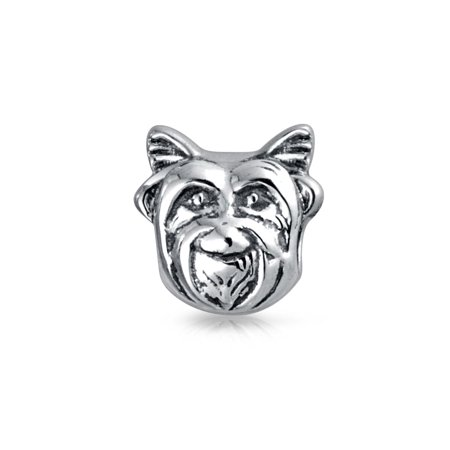 - Yorkie Dog Face Dog Puppy Pet Animal Lover Bead Charm For Women For Teens 925 Sterling Silver Fits European Bracelet